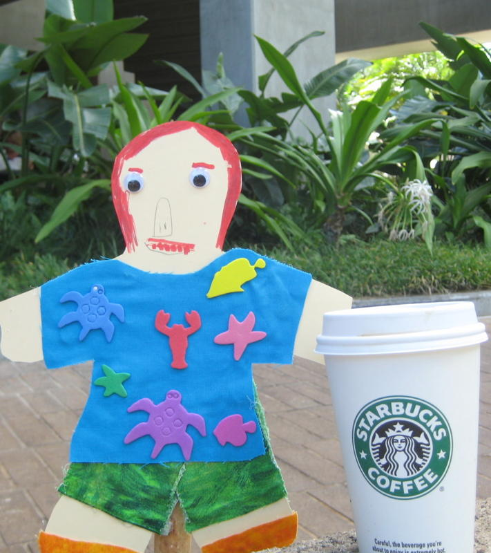 Flat Stanley Drink Coffee