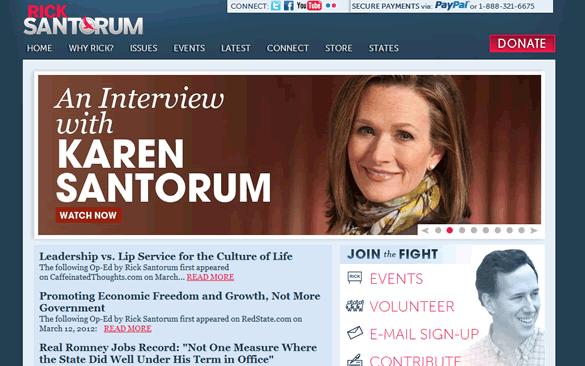 Santorum's Main Page