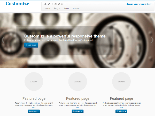 Free Customizer WordPress Theme