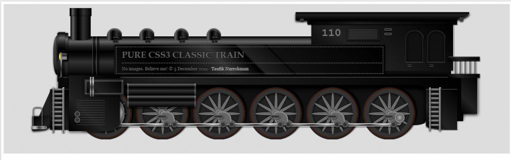Pure CSS3 Classic Train