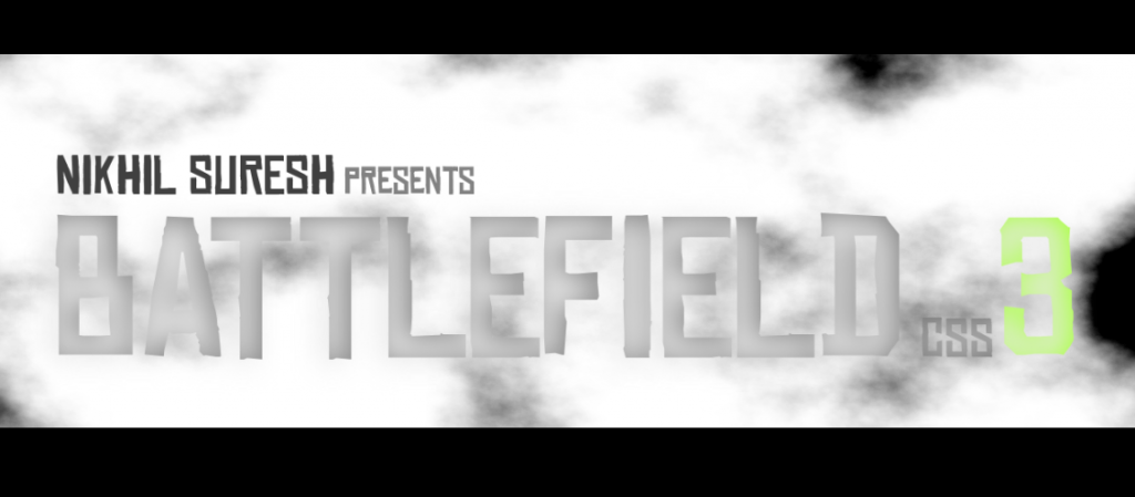 CSS battlfield css3 movie
