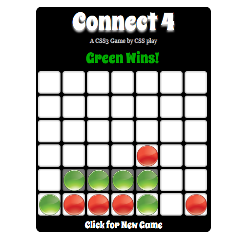 CSS Connect Four