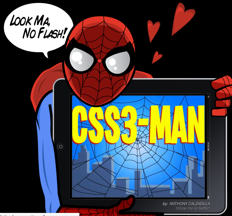 CSS Spiderman Video